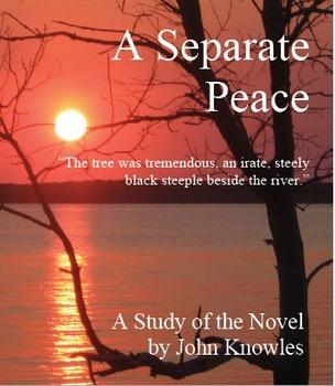A Separate Peace Quizzes, 4 Quizzes, 12-14 Items Each, Answer Keys