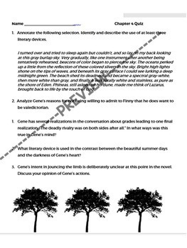 A Separate Peace Quizzes – Differentiated – Common Core Aligned
