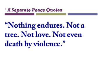 A Separate Peace Quotes posters