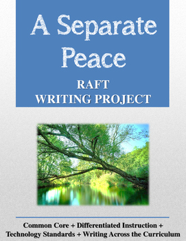 A Separate Peace RAFT Writing Project