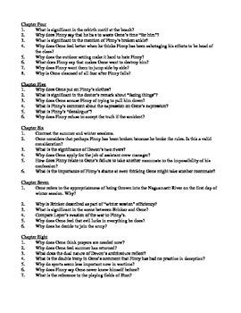 A Separate Peace - Study Guide Questions AP Language Socratic Style