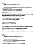 A Separate Peace - Study Guide w/ Vocabulary - Answer Key