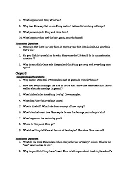 A Separate Peace Study Guide with Answer Key