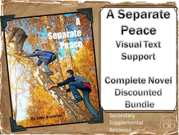 A Separate Peace: Visual Text Support Discounted Complete Novel Bundle