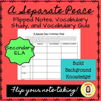 A Separate Peace Vocabulary Study