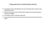 A Separate Peace and Dead Poets Society Comparative Media