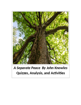 A Separate Peace by John Knowles Quizzes, Essay Test and A