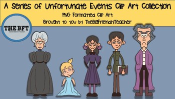 A Series of Unfortunate Events Clip Art Collection