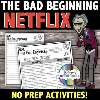 A Series of Unfortunate Events Netflix Series Activity - The Bad Beginning