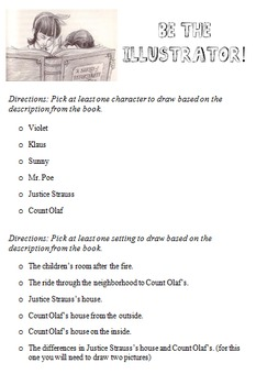 Chapter Questions for A Series of Unfortunate Events, The Bad Beginning