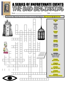 A Series of Unfortunate Events : The Bad Beginning (Puzzle Pages)
