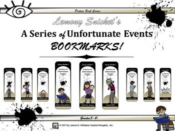 A Series of Unfortunate Events by Lemony Snicket Bookmarks