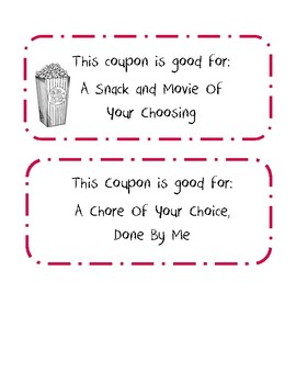 A Set of 10 Mother's Day Coupons