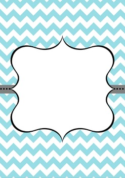 A Set of Blue Chevron with Grey Stripe Detail Binder Covers