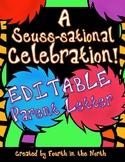 A Seuss-sational Celebration! EDITABLE Parent Letter