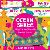 Math Centers - Ocean Shake  - 5 Egg Carton Shakes