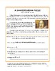 Shakespearean Puzzle (Follow-the-Directions Puzzle Centered on Shakespeare, $1)
