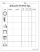 Shape Attribute Chart Activities - Plane & Solid