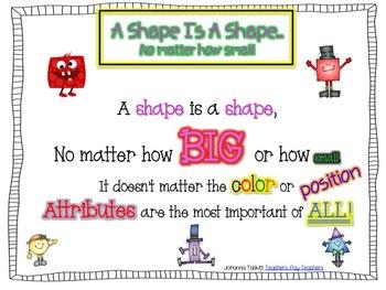 A Shape Is A Shape...No Matter How Small (Poem)