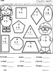 A+ Shape Math: Differentiated Addition Practice While Naming Shapes