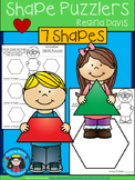 A+ Shape Puzzlers: Making Smaller Shapes From Larger Shapes