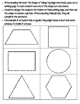 A Shape is Just a Shape FREEBIE {Class Book} {Common Core Aligned}