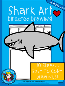 A+ Shark Art: Directed Drawing