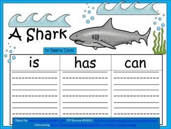 A+  Shark ... Three Graphic Organizers