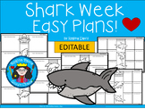 A+ Shark Week Easy Plans: Editable Papers