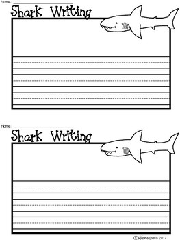 A+ Shark ... Writing Paper
