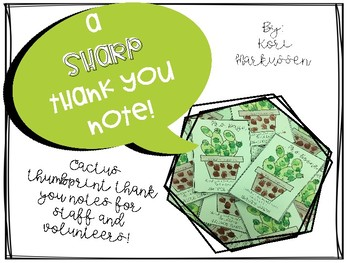 """A """"Sharp"""" Thank You Note"""