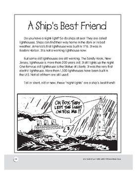 A Ship's Best Friend: America's First Lighthouse: Activities for Grades 1–3