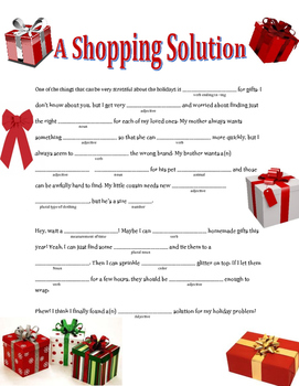 A Shopping Solution: A Winter Madlib
