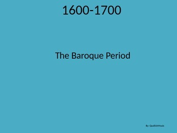 A Short Baroque Era Powerpoint!