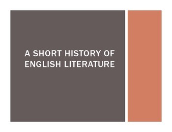 A Short History of English (Intro Lesson for AP English Literature Students)