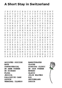 A Short Stay in Switzerland Word Search