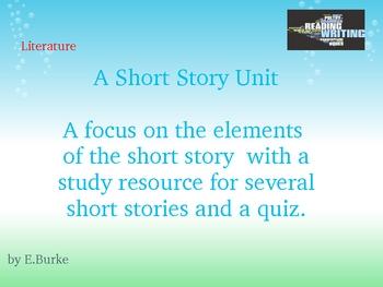 A Short Story Study unit