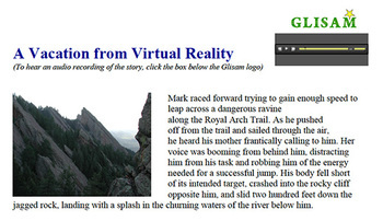 VACATION FROM VIRTUAL REALITY: short story for struggling readers in high school