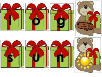 A Short Vowel CVC Word Building Holiday Themed Daily 5 Literacy Center Activity