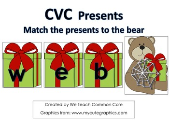 A Short Vowel CVC Word Building Holiday Themed Daily 5 Lit
