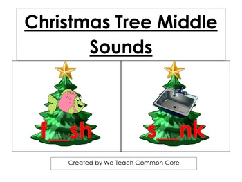 A Short Vowel Middle Sound Fill in the Blank Christmas Dai
