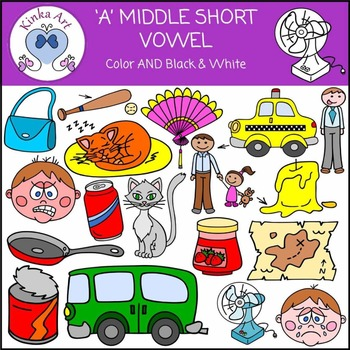 A - Short Vowel Sounds Clip Art