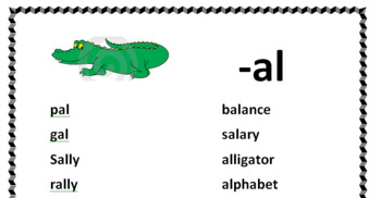 A Short Vowel Word Families Posters or Handouts (15-30 per page)