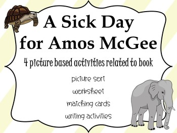 A Sick Day for Amos McGee: Picture Based Activities