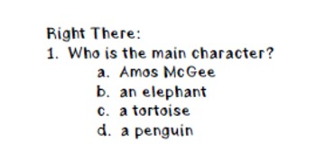 """A Sick Day for Amos McGee"" leveled book questions"