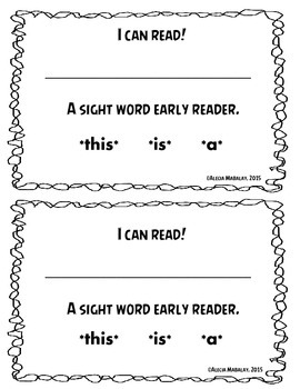 A Sight Word Early Reader