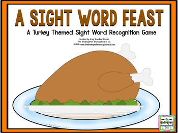 Sight Words!  A Sight Word Feast!  A Turkey Sight Word Game!