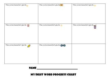 A Sight Word Incentive Program-Dolch First Grade-Movie Star Theme