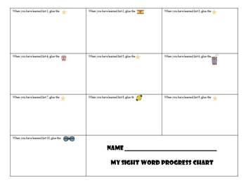 A Sight Word Incentive Program-Dolch Pre-Primer words-Movie Star Theme