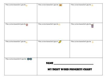 A Sight Word Incentive Program-Dolch Primer words-Movie Star Theme